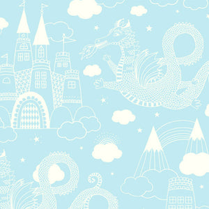 Dragon Sky Wallpaper Light Blue by Majvillan - minifili