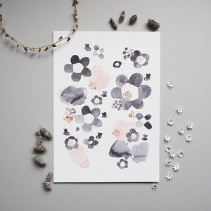 Floral Watercolour Print by Wonder & Rah - minifili