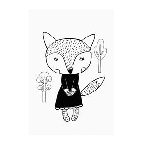 Fox in a Dress Print by Mini Learners - minifili