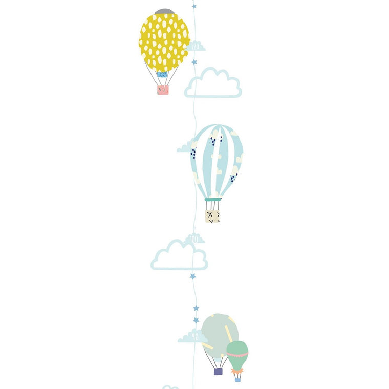 Hot Air Balloons Height Chart Wall Decal