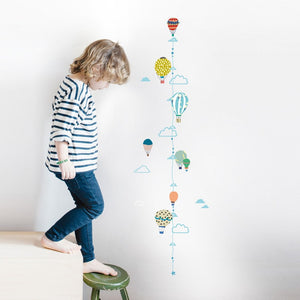 Hot Air Balloons Height Chart Wall Decal by MIMI'lou - minifili