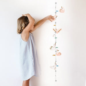 Swan Height Chart Wall Decal by MIMI'lou - minifili