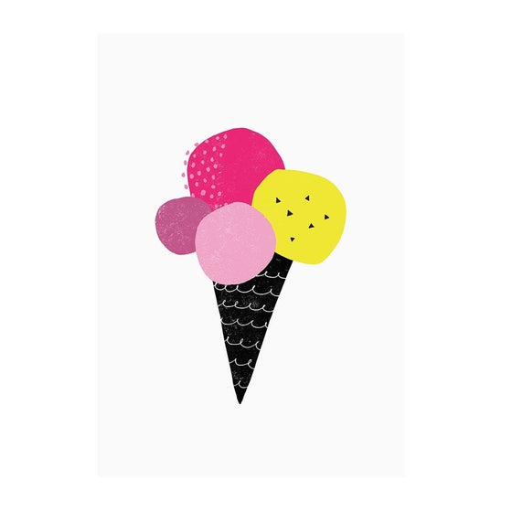 Ice Cream Print Neon Berry