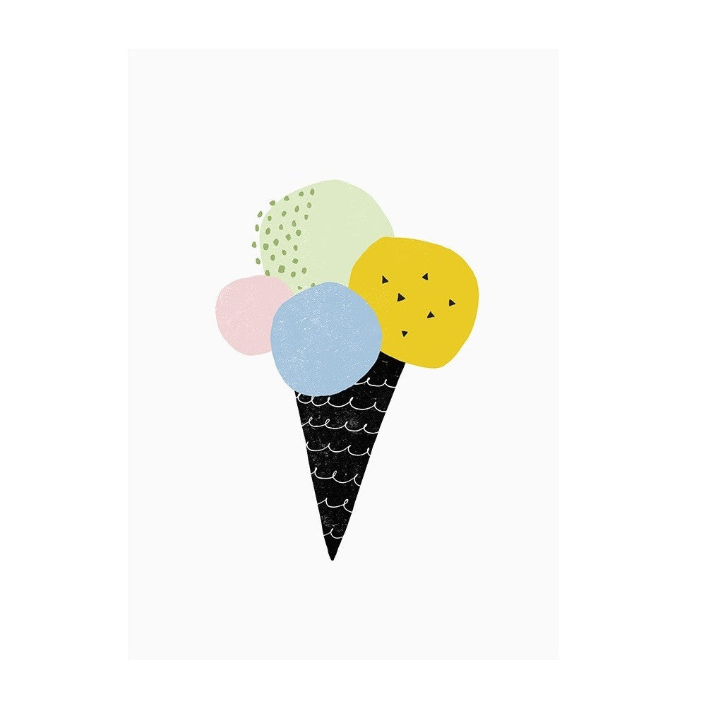 Mini Learners - Ice Cream Print Pastel