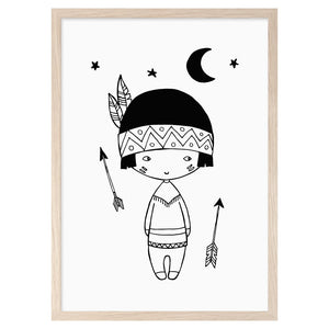 Little Indian Print by Mini Learners - minifili