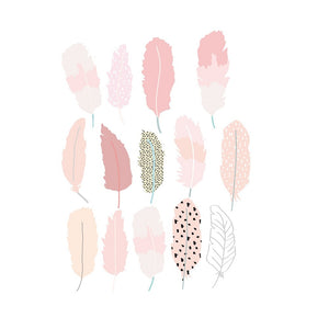 Just a Touch - Pink Feathers Wall Sticker by MIMI'lou - minifili