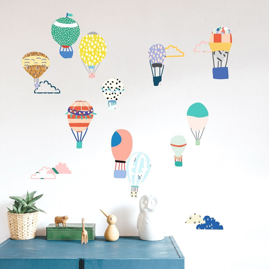 Just a Touch - Hot Air Balloons Wall Sticker by MIMI'lou - minifili