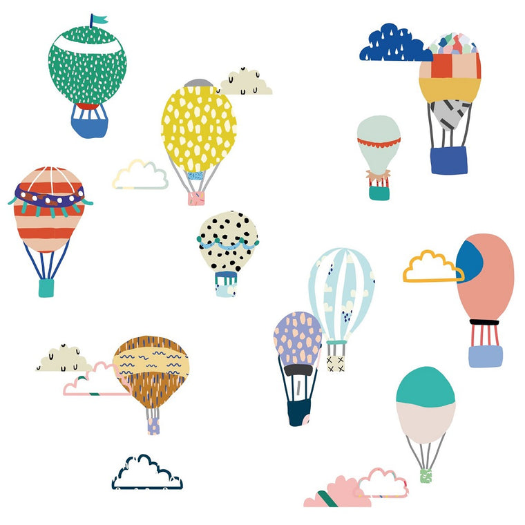 Just a Touch - Hot Air Balloons Wall Sticker