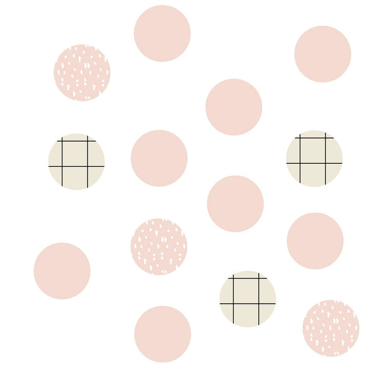 Just a Touch - Pink Dots Wall Sticker