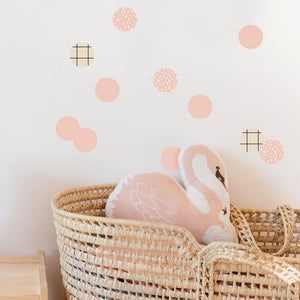 Just a Touch - Pink Dots Wall Sticker by MIMI'lou - minifili