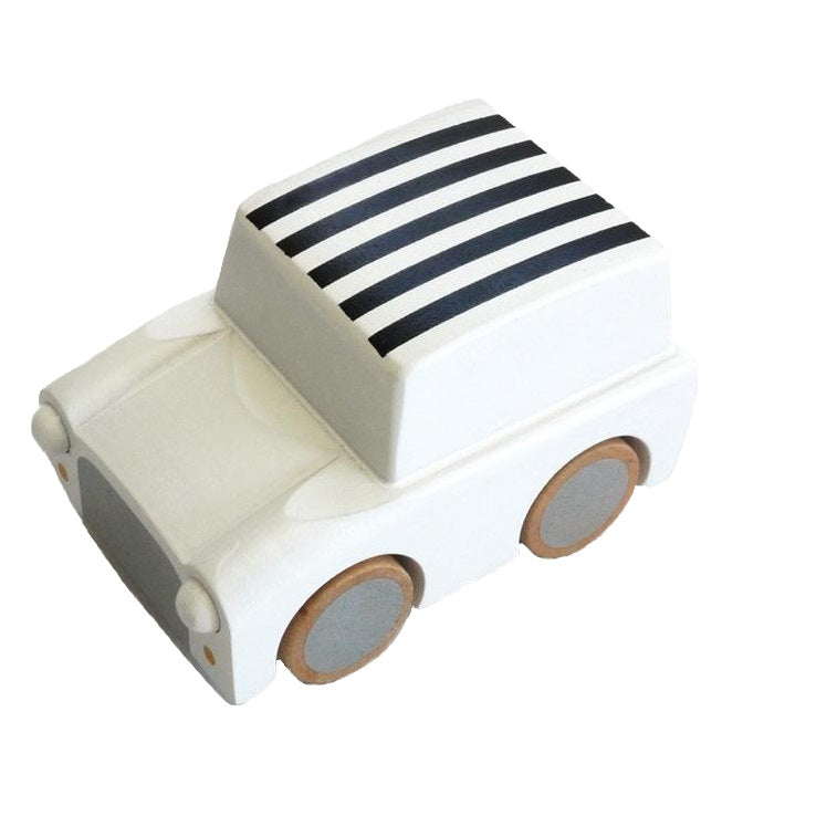 Kuruma Pullback Car Stripes White
