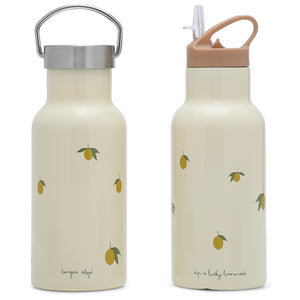 Stainless Steel Water Bottle Lemon by Konges Slojd - minifili