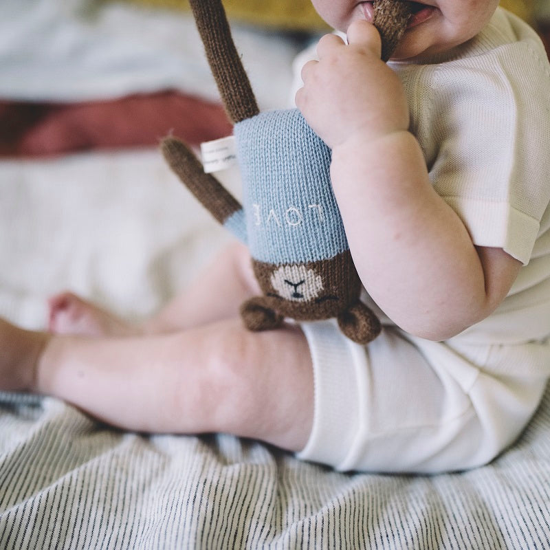 Teddy Soft Toy Blue by Main Sauvage - minifili