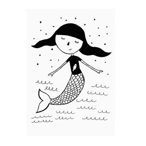 Mermaid Print by Mini Learners - minifili