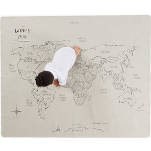 World Map Midi+ Mat by Gathre - minifili