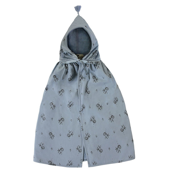 Octopus Bath Cape Blue Grey