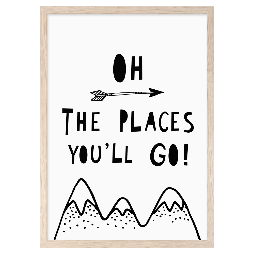 Mini Learners - Oh The Places You'll Go! Print