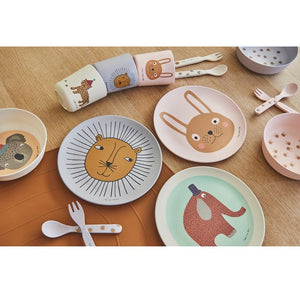 Rabbit Bamboo Fork & Spoon by OYOY Mini - minifili