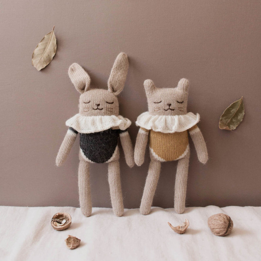 Kitten Ochre Bodysuit Soft Toy by Main Sauvage - minifili