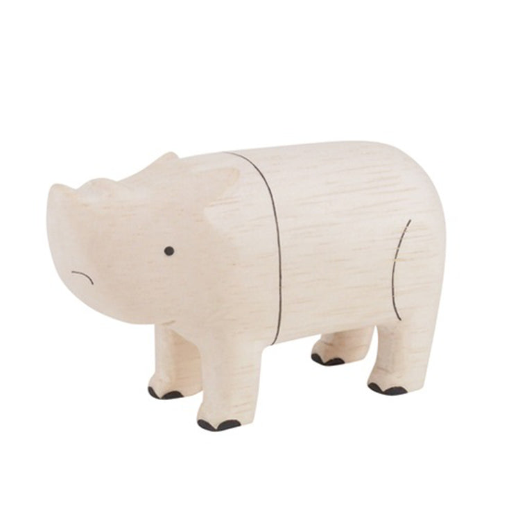 Pole Pole Wooden Animal Rhinoceros