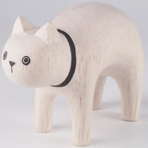 Pole Pole Wooden Animal White Cat by T-Lab - minifili