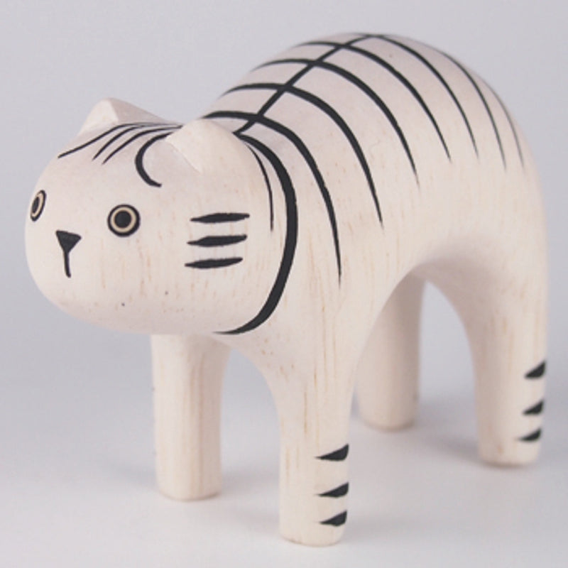 T-Lab - Pole Pole Wooden Animal Tiger Cat