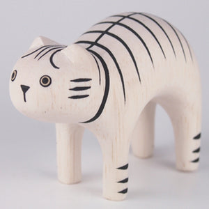 Pole Pole Wooden Animal Tiger Cat by T-Lab - minifili
