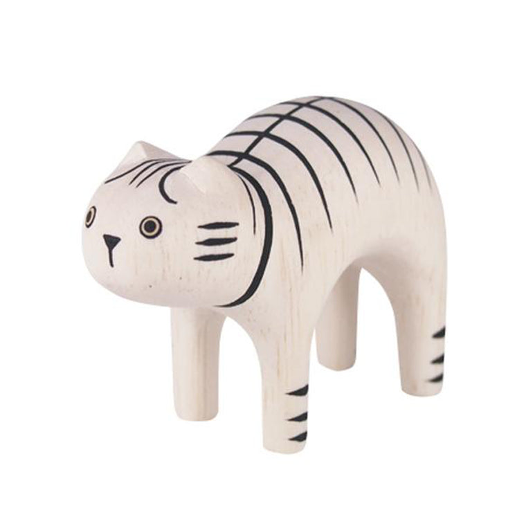 Pole Pole Wooden Animal Tiger Cat