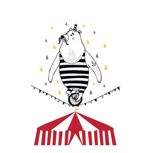 Circus Bear Print by Foxella and Friends - minifili