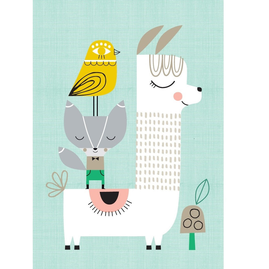 Petit Monkey - Lama and Friends Poster