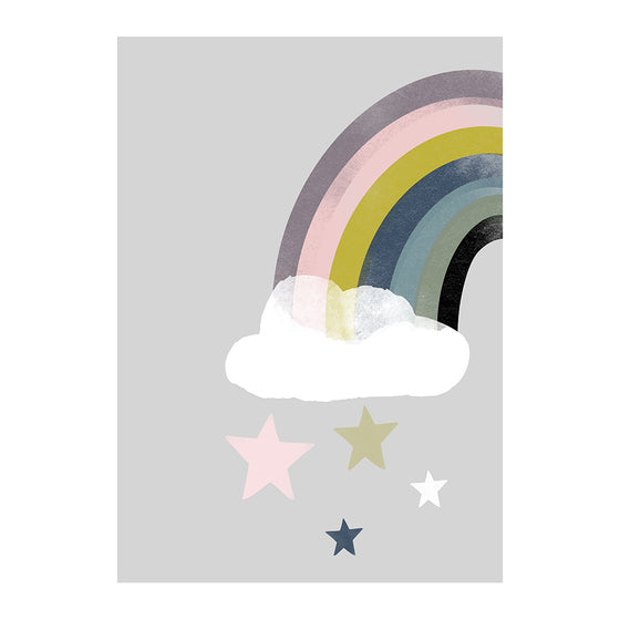 Rainbow Star Fall Print
