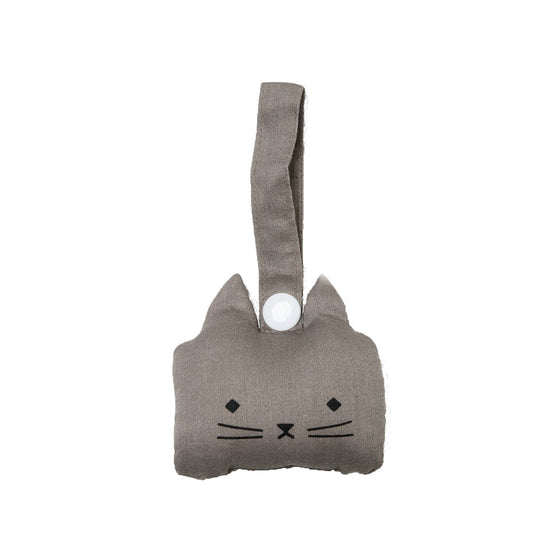 Animal Rattle Cat Grey