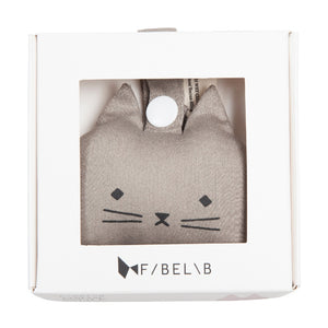 Animal Rattle Cat Grey by Fabelab - minifili