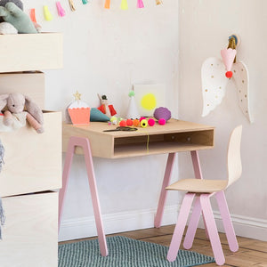 Kids Desk & Chair Large Pink by In2Wood - minifili