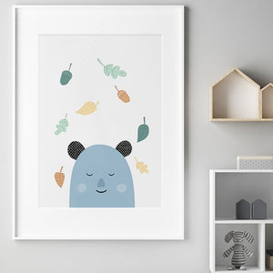 Sleepy Bear Print by Mini Learners - minifili