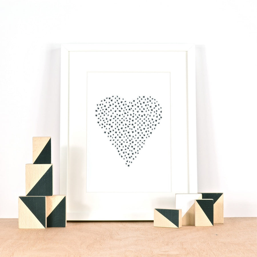 Star Heart Print by Ingrid Petrie Design - minifili