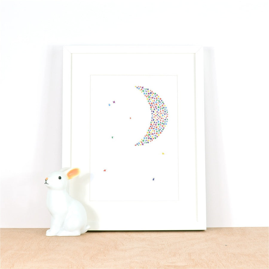 Starry Moon Print by Ingrid Petrie Design - minifili