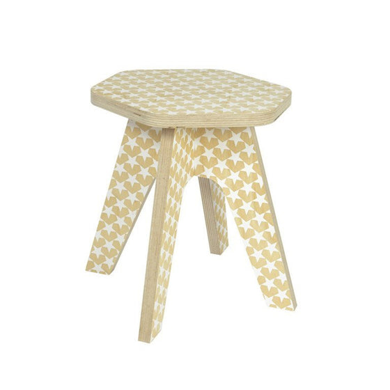 Milk Stool White Stars