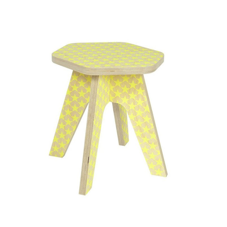 Milk Stool Yellow Stars