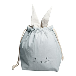 Storage Bag Cat Foggy Blue by Fabelab - minifili