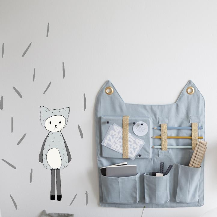Dreamy Friend Cat Wall Sticker by Fabelab - minifili