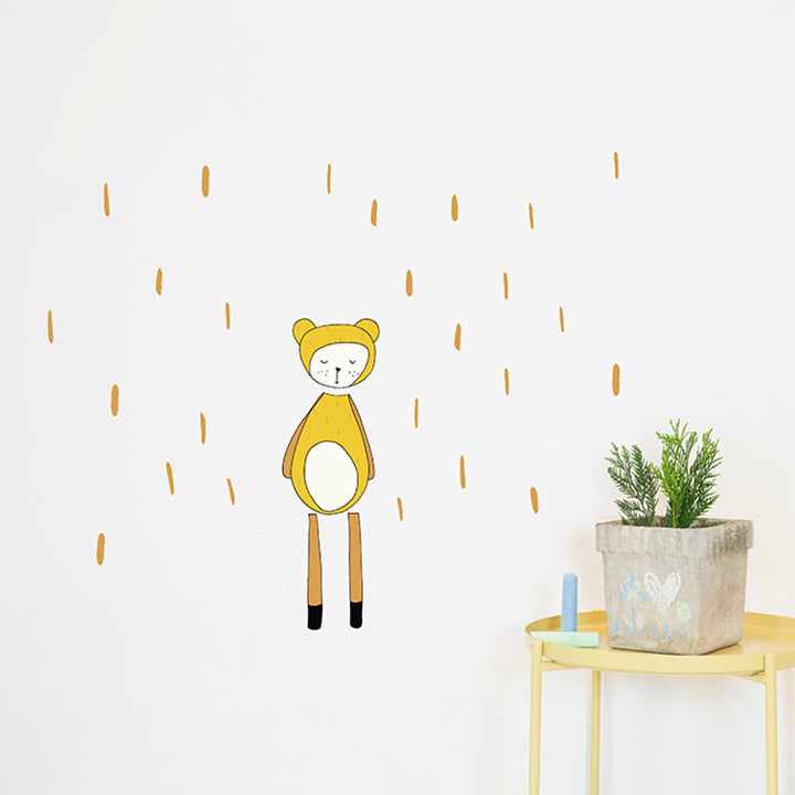 Dreamy Friend Bear Wall Sticker by Fabelab - minifili