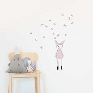 Dreamy Friend Bunny Wall Sticker by Fabelab - minifili
