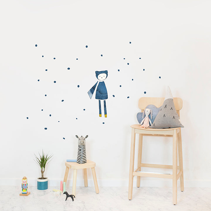 Dreamy Friend Wizard Wall Sticker by Fabelab - minifili