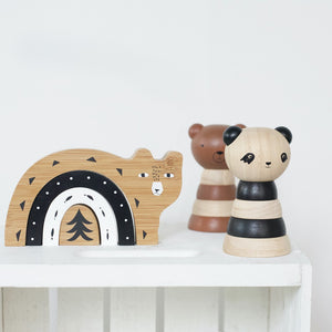 Wooden Stacking Panda by Wee Gallery - minifili