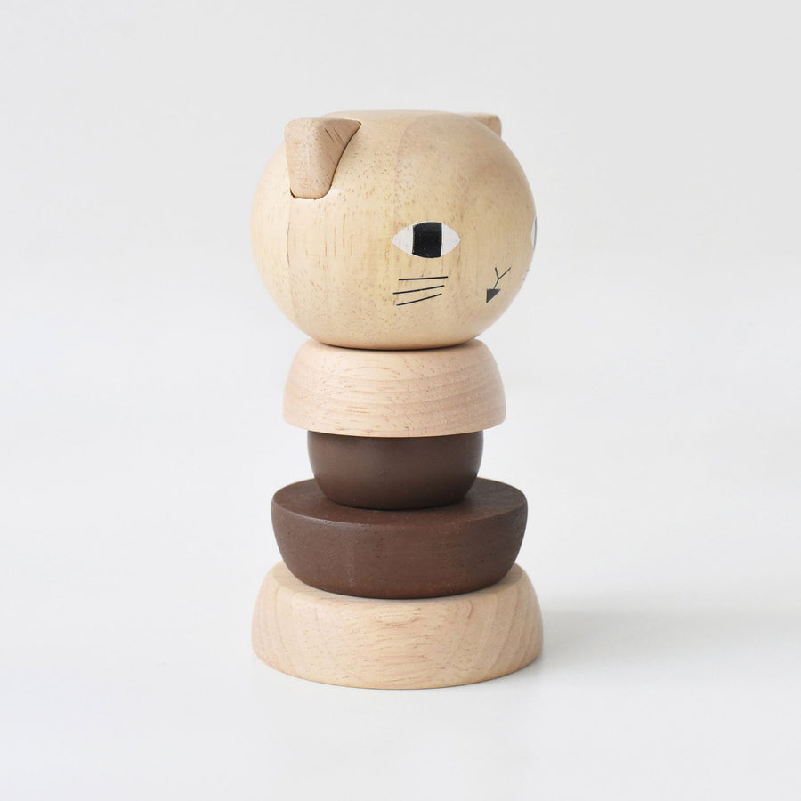 Wooden Stacking Cat by Wee Gallery - minifili