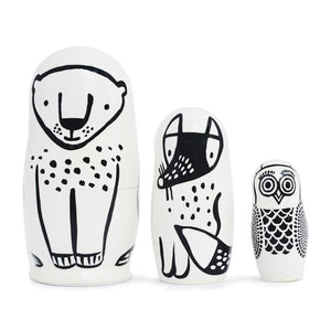 Forest Friends Nesting Dolls by Wee Gallery - minifili