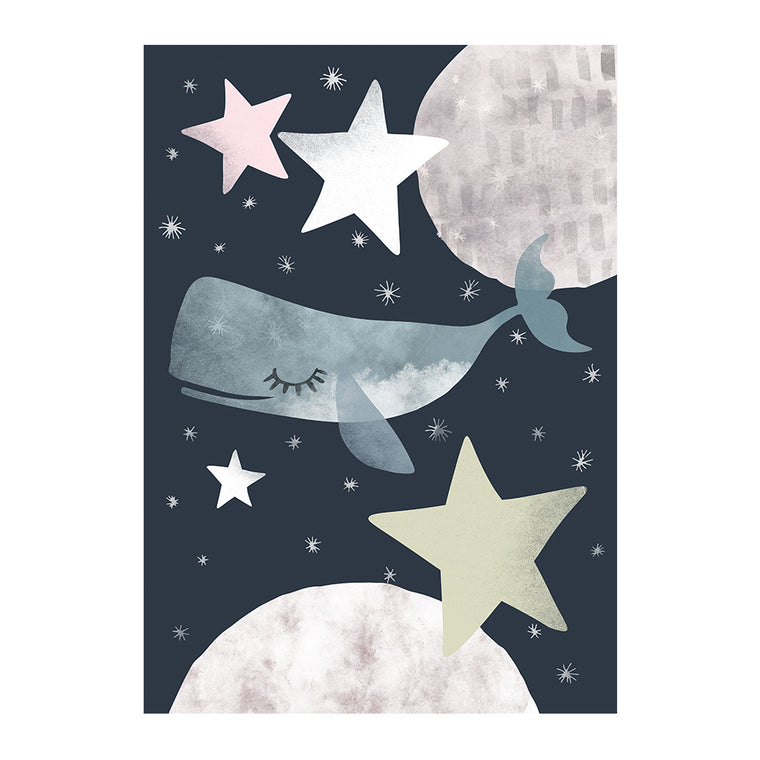 Whale in Space Print