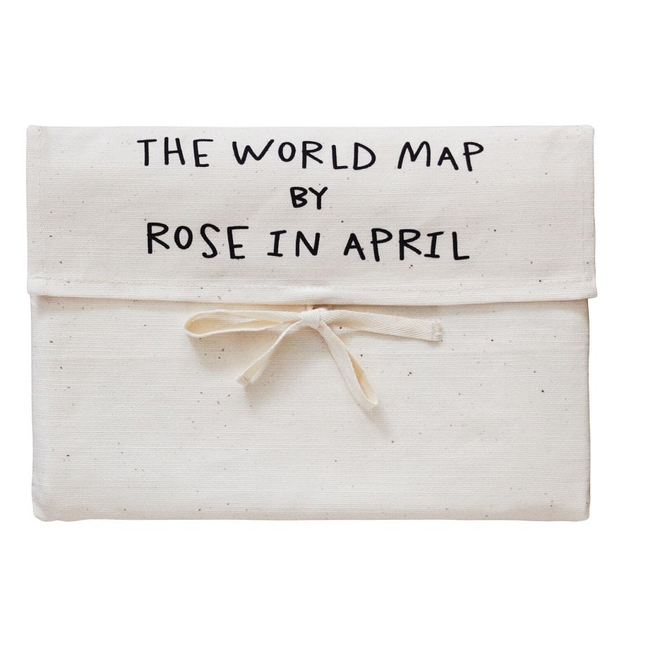 Rose in April - Canvas World Map