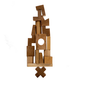Natural Stacking Tower by Wooden Story - minifili